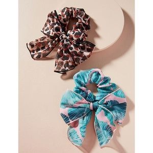 NWT ANTHROPOLOGIE Safari Scarf Hair Tie Set